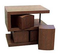 """Комплект S-образный """"Кайман"""": стол, 4 табурета, 70х50х60 см (КА-R03)"""