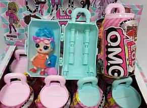 """Кукла сюрприз с волосами """"LOL O.M.G. Hairgoals """" чемодан Big 11,5 см, фото 3"""