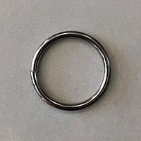 Кільце металеве зварне 36 мм чорний нікель