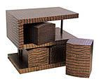 """Комплект S-образный """"Кайман"""": стол, 4 табурета, 70х50х60 см (КА-С03)"""