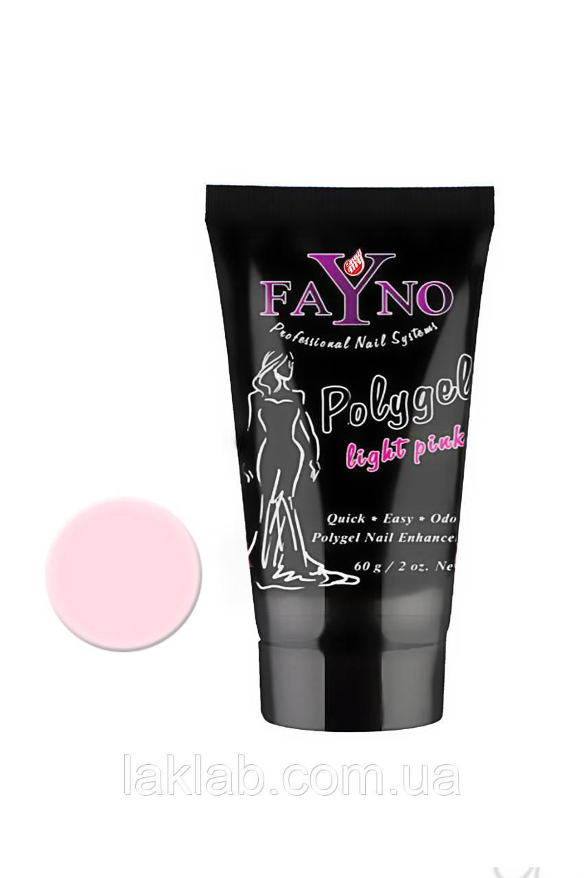 Полигель Fayno, 60 мл розово-прозрачный