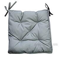 Подушка-сидушка на стул Прованс Uni Grey 40х40 см