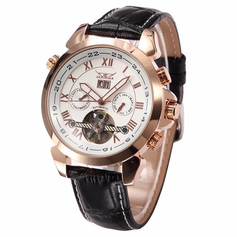 Механические часы с автоподзаводом Jaragar (gold-white) - гарантия 12 месяцев