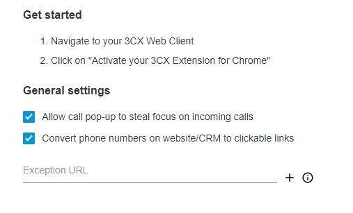 Настройка параметров браузерного VoIP-клиента 3CX