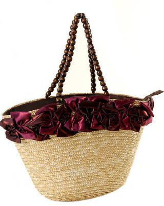 Прекрасная летняя сумка-корзина  Podium 1201 natural, естественный