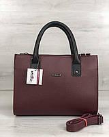 Молодіжна жіноча сумка Ханна бордового кольору, фото 1