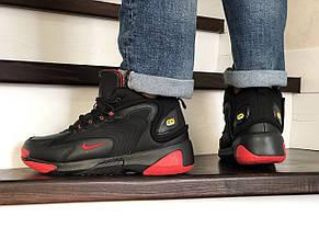 Мужские  зимние кроссовки Nike Zoom 2K,черные с красным, фото 2