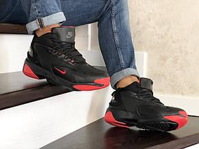 Мужские  зимние кроссовки Nike Zoom 2K,черные с красным, фото 3