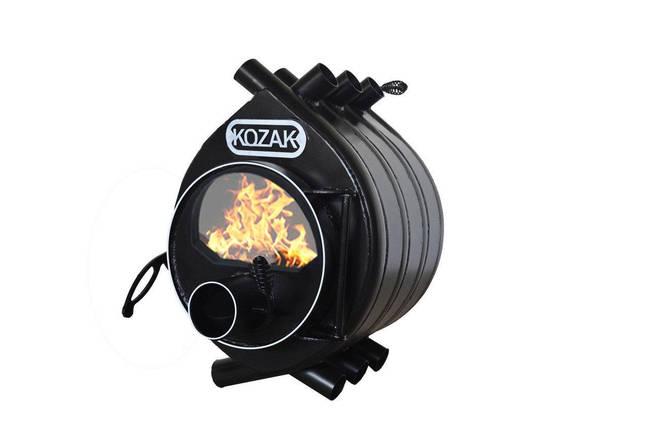 Печь-булерьян Kozak Тип 02 - 400 м3 + стекло, фото 2