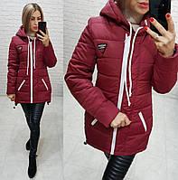 Куртка-парка зимняя, арт. 204, цвет - марсала