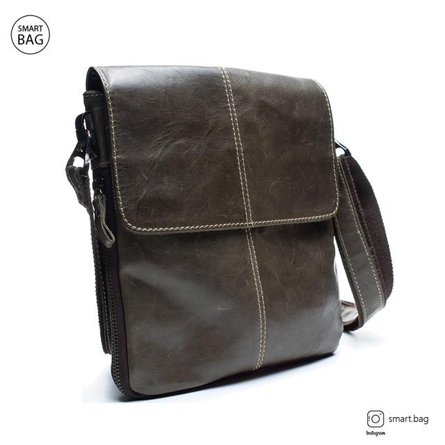 Мужская кожаная сумка Marrant | серая
