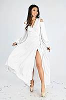 Женское вечернее платье в пол Lipar Белое