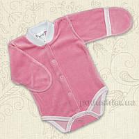 Боди с закрытой ручкой для малышей Лайк Бетис велюр 62 цвет розовый