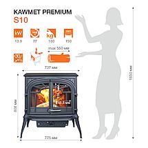 Печь камин чугунная KAWMET Premium S10 (13,9 kW), фото 2