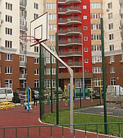 Баскетбольна стійка на одній опорі