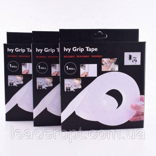 [ОПТ] Сверхпрочная клейкая лента Ivy Grip Tape, многоразовая. Многоразовый двухсторонний скотч. 3м