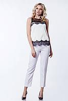 Женские брюки зауженные к низу Lipar Белые