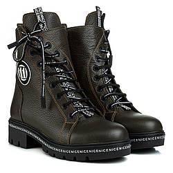 Ботинки женские TEONA (кожаные, модные, натуральные, удобные)