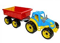 Трактор с прицепом, интересная игрушка для мальчиков. Игрушки для развития мальчиков.