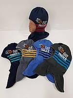 Детские утепленные зимние шапки-шлемы для мальчиков, р.48-50, Grans (Польша), фото 1
