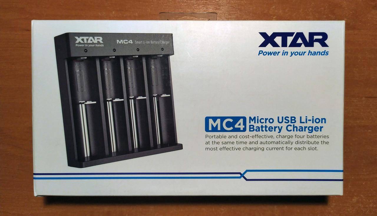 XTAR MC4 – простое и надежное зарядное устройство для литий ионных (Li-ion) аккумуляторов IMR, INR, ICR 18650