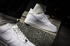Мужские кроссовки Comme des Garcons PLAY x Nike Air Force 1 CDG White Red ( Реплика ), фото 3