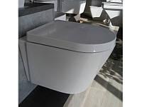 Чаша подвесного унитаза с сиденьем, белая, 480*315*300 мм NEWARC Life 9823W