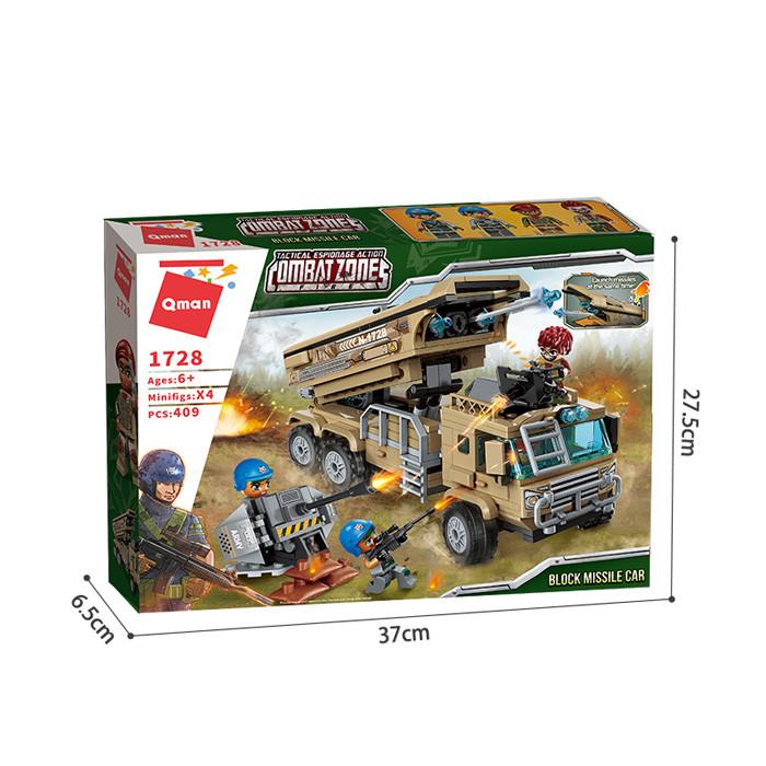 """Конструктор Brick (Qman) 1728 """"Ракетная установка"""", 409 деталей"""