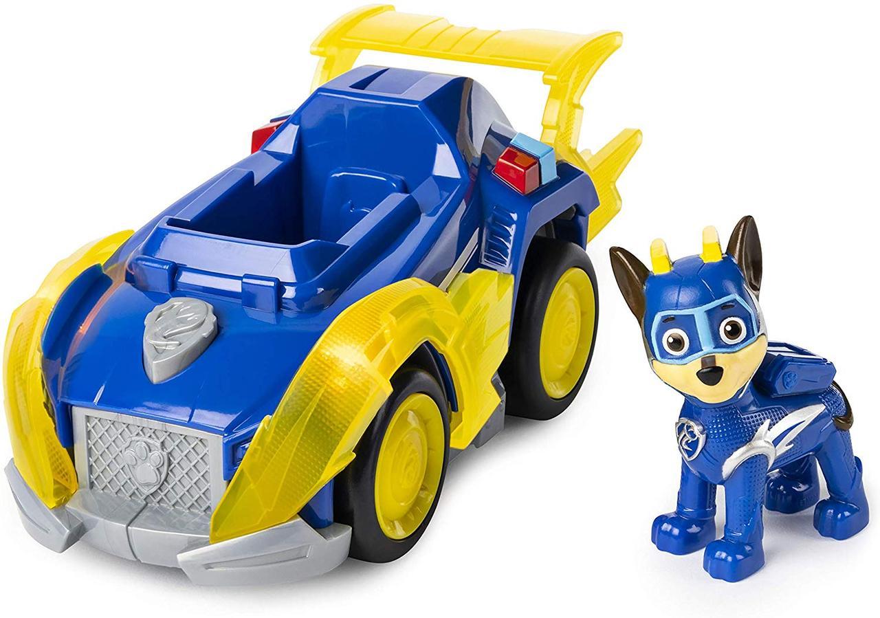 "Paw Patrol Щенячий патруль Могучие Щенки ""Чейс"" Mighty Pups Super Paws Chase Deluxe Vehicle. Оригинал из США"