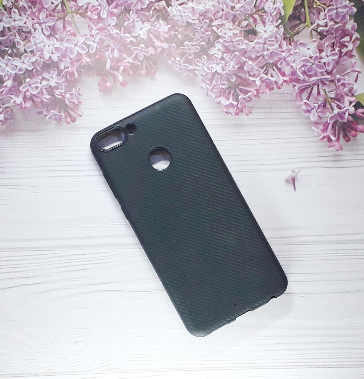 Чехол накладка Silicone Case на Huawei PSmart  (2018), Black