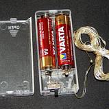 """Светодиодная гирлянда нить на 20 Led """"Капли росы"""" 2 м на батарейках мультицвет, фото 3"""