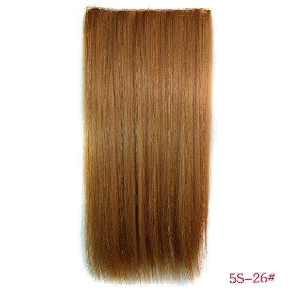 РАСПРОДАЖА! Волосы на заколках золото-коричневый 5S-26#