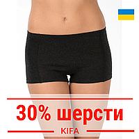 Теплые термо трусы женские с шерстью, термобелье с начесом женское, Kifa