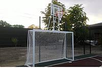 Ворота для мини футбола и гандбола с баскетбольным щитом