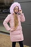 Детская зимняя куртка пальто плащевка Аляска+250 силикон+подкладка флис размер:128,134,140,146,152,158, фото 3