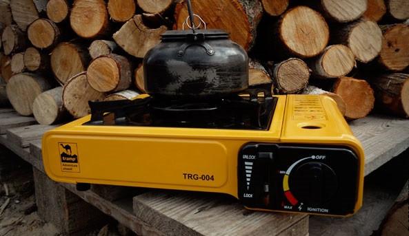 Портативна плита одна конфорка з пєзопідпалом Tramp TRG-004. Плита портативна в кейсі Tramp