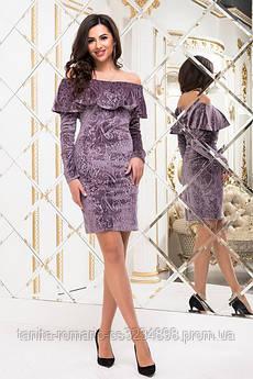 Коктейльное платье 6295e Фрезовый M(р)