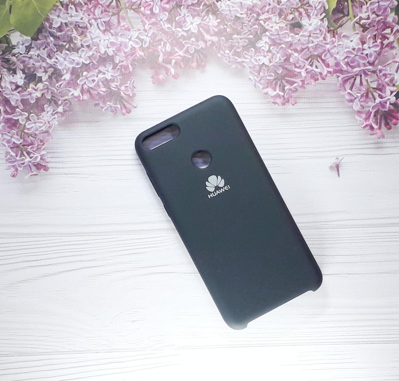 Чехол накладка Soft Touch на Huawei PSmart  (2018), Black