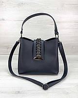 Жіноча сумка Саті синього кольору, фото 1