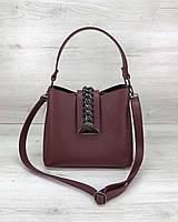 Женская сумка WeLassie Сати бордового цвета, фото 1