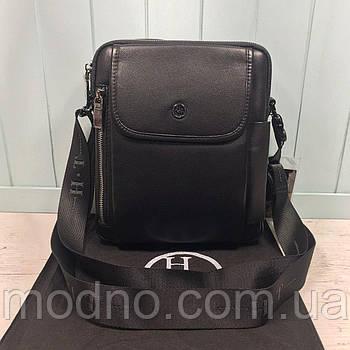 Чоловіча шкіряна сумка месенджер через плече H. T. Leather