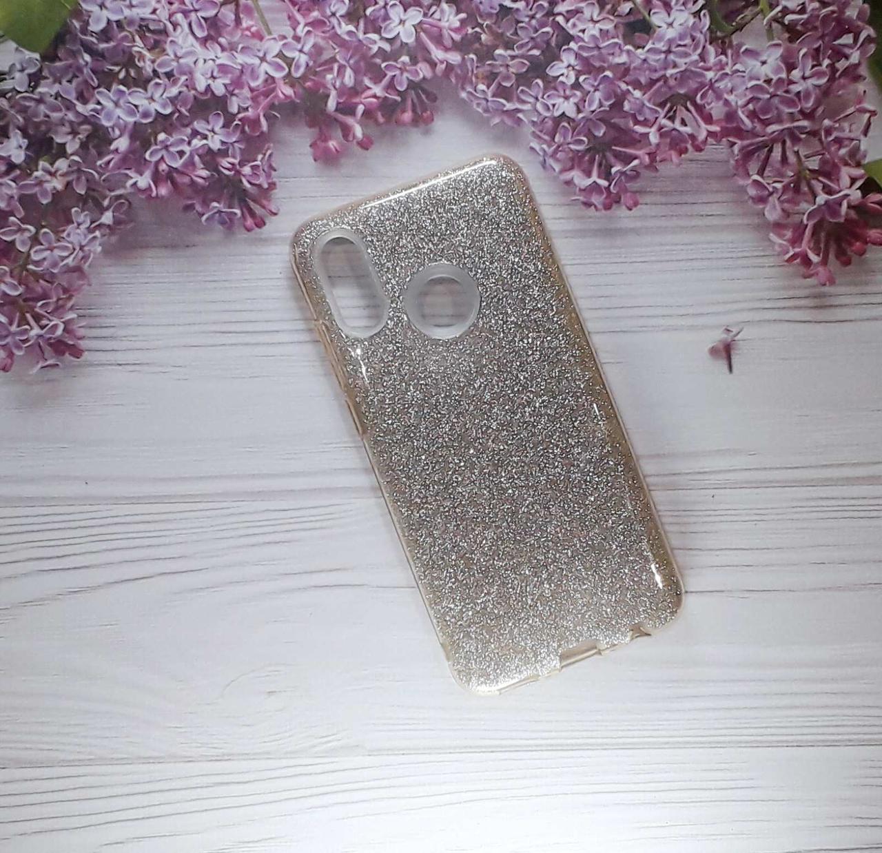 Чехол накладка Glitter на Huawei PSmart (2019) Gold