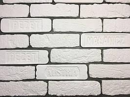 """Гипсовая плитка кирпич белый """"Австрийский"""" (декоративный гипсовый камень) Белая"""