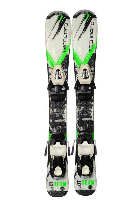 Лижі дитячі Tecnopro XT Team 70 White Green Б/У, фото 2