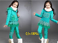 Зимний костюм тройка для девочек Д-665-О, фото 1