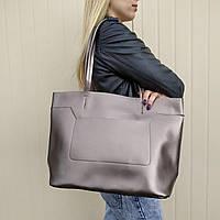 """Большая кожаная сумка - шоппер, сумка для документов """"Хельга Bronze"""", фото 1"""