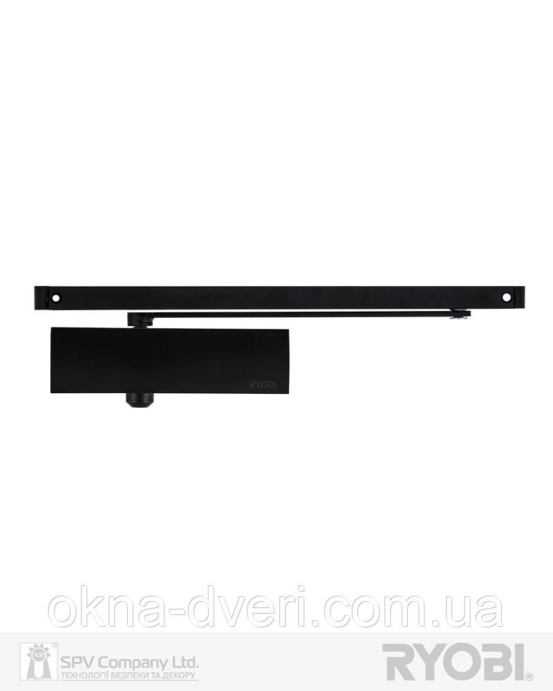 Накладної доводчик чорний RYOBI 1200 D-1200T BLACK SLD_HO_ARM EN_3 60кг 950мм