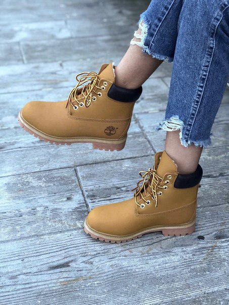 Зимние модные ботинки Timberland на меху