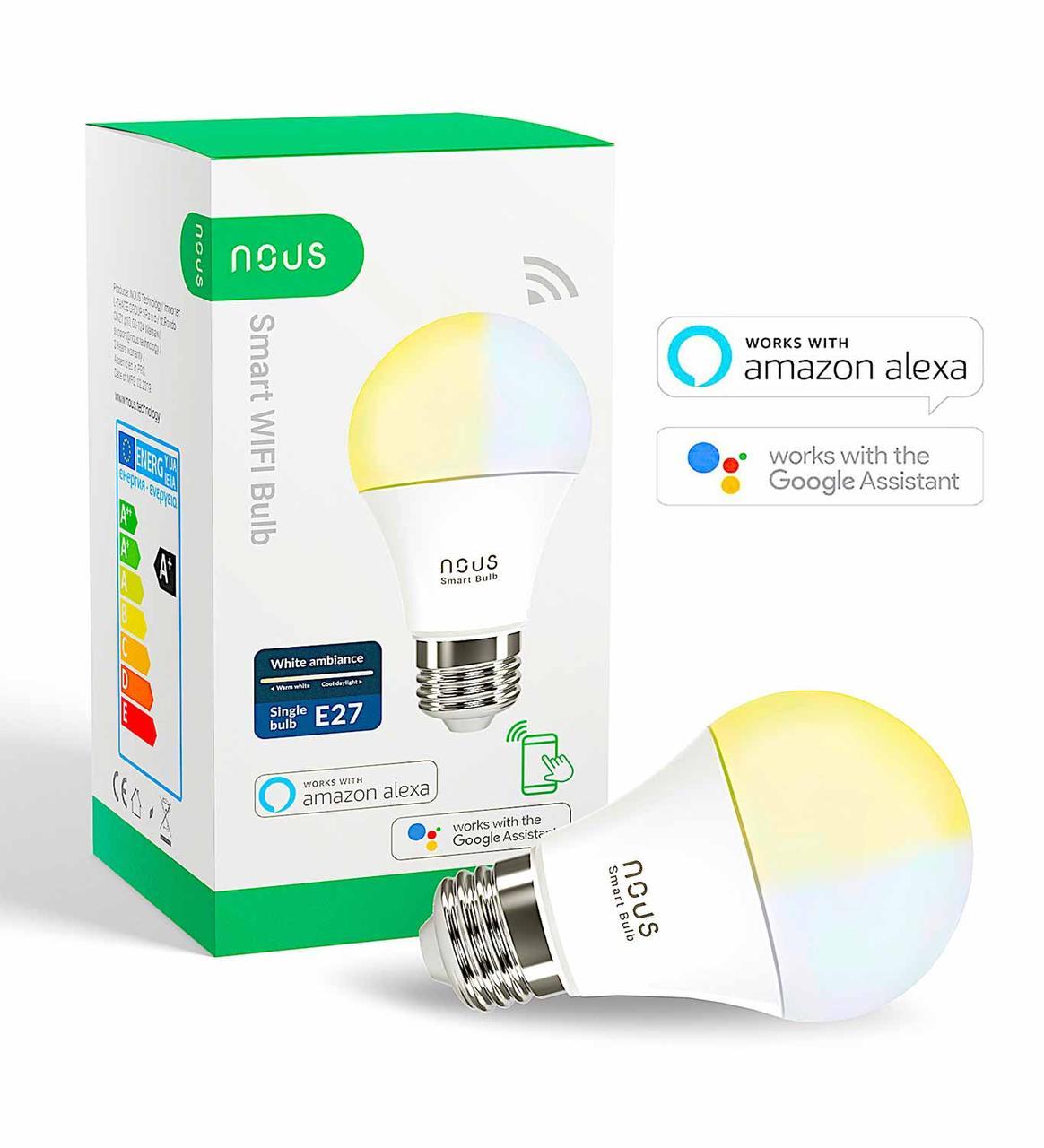 Умная Smart LED лампа NOUS P2 Bulb 9W E27 2700-6000K Wi-Fi