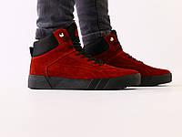 Ботинки мужские замшевые зимние, на шнурках